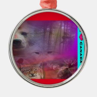 I Luv Canada Metal Ornament