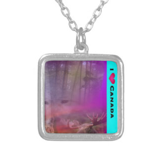 I Luv Canada Silver Plated Necklace