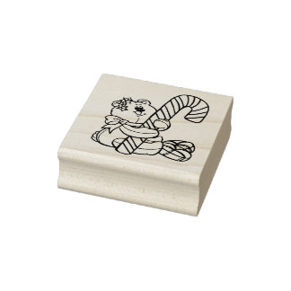 I Luv Candy Christmas Rubber Stamp