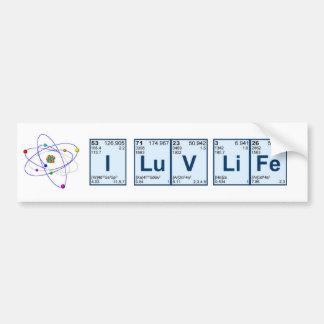 I LuV LiFe Bumper Sticker