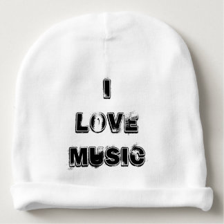 """I Luv Music"" Infants Cotton Weather Hat Baby Beanie"