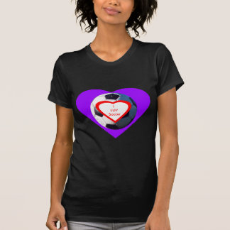 I LUV Soccer Ball jGibney The MUSEUM Zazzle Gifts T-shirt