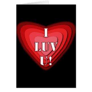 I LUV U! CARD