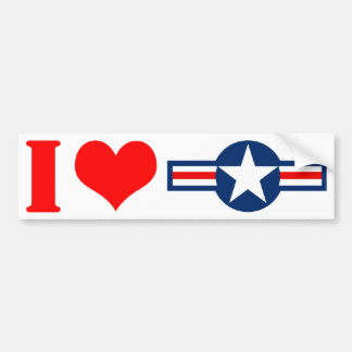 I Luv USA Bumper Sticker