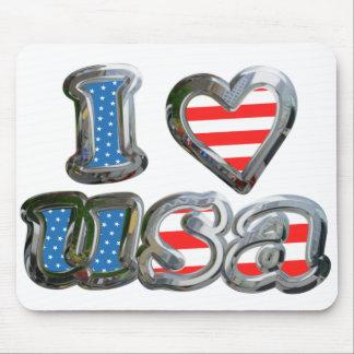 I Luv USA Mouse Pad