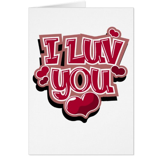 I Luv You card