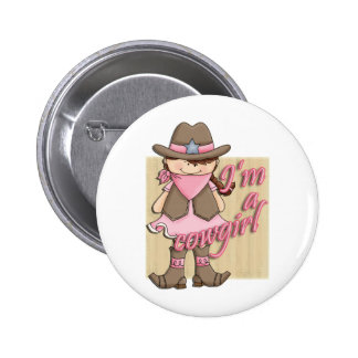 I m A Cowgirl Little Dude Western Pinback Button