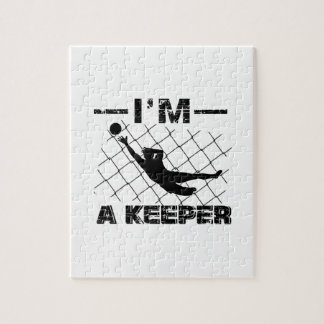 I'm a Keeper – Soccer Goalkeeper designs Jigsaw Puzzle