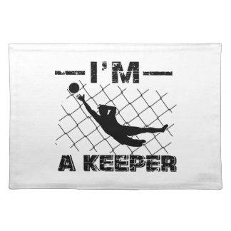 I'm a Keeper – Soccer Goalkeeper designs Placemat