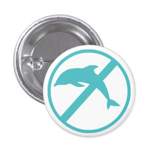 I'm a marine biologist and i hate dolphins 1 inch round button