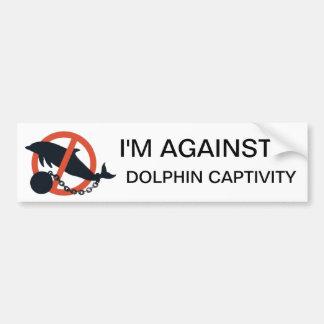 I M AGAINST DOLPHIN CAPTIVITY BUMPER STICKERS