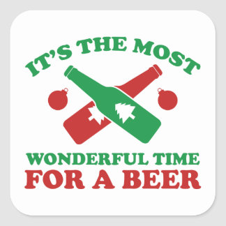 I'm Dreaming Of A Drunk Christmas Square Sticker