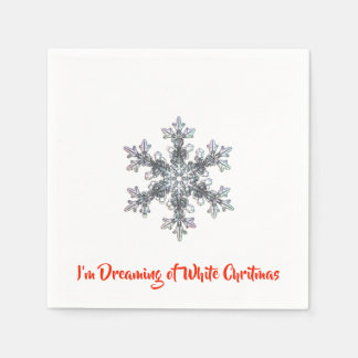 I'm Dreaming of a White Chritmas Napkin