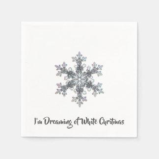 I'm Dreaming of a White Chritmas Paper Napkin