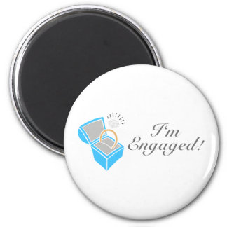 I m Engaged Diamond Engagement Ring Box Refrigerator Magnet