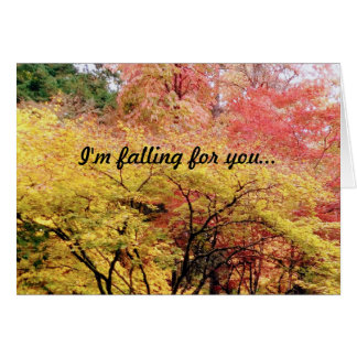 """I""""m Falling for you Valentine's Day Card"""