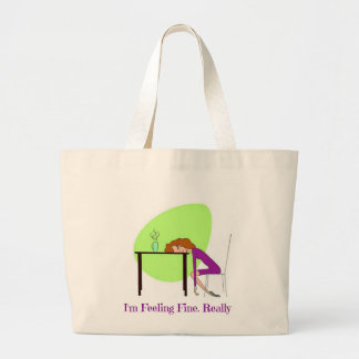 """I""m Feeling Fine"" Fibromyalgia Awareness Tote Bag"