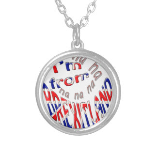 I,m from brexitland silver plated necklace