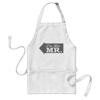 I m Her Mr Gray Arrow Apron