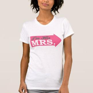 I m His Mrs Hot Pink Arrow Shirts