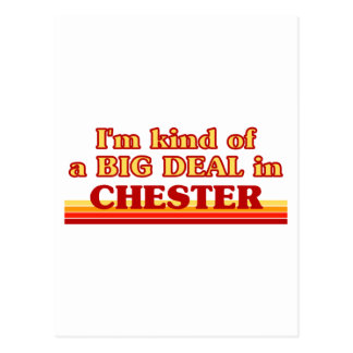 I´m kind of a big deal in Chester Postcard