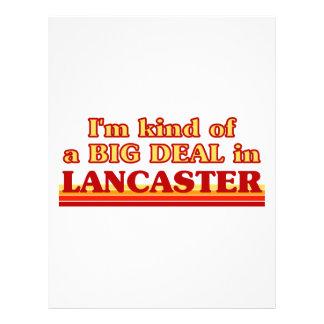 I´m kind of a big deal in Lancaster Letterhead