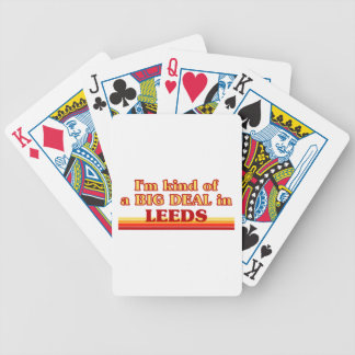 I´m kind of a big deal in Leeds Bicycle Playing Cards