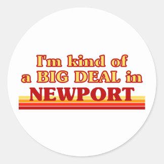 I´m kind of a big deal in Newport Classic Round Sticker