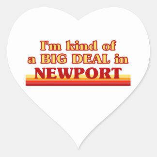 I´m kind of a big deal in Newport Heart Sticker