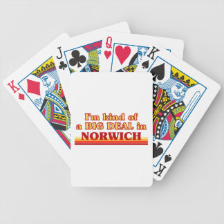 I´m kind of a big deal in Norwich Bicycle Playing Cards