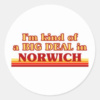 I´m kind of a big deal in Norwich Classic Round Sticker