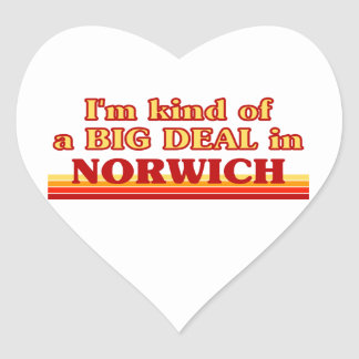 I´m kind of a big deal in Norwich Heart Sticker