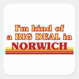 I´m kind of a big deal in Norwich Square Sticker