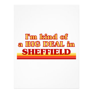 I´m kind of a big deal in Sheffield Letterhead