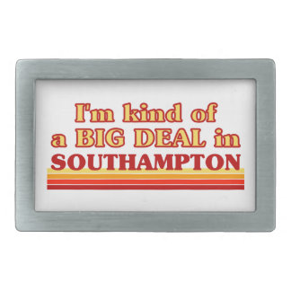 I´m kind of a big deal in Southampton Rectangular Belt Buckle