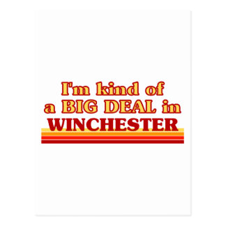 I´m kind of a big deal in Winchester Postcard