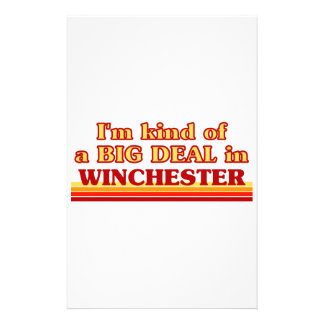 I´m kind of a big deal in Winchester Stationery
