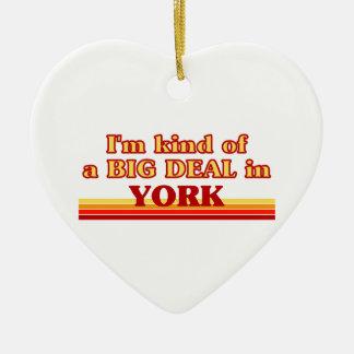 I´m kind of a big deal in York Ceramic Ornament