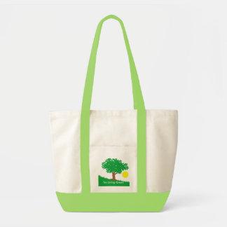 I m Living Green Tote Bag