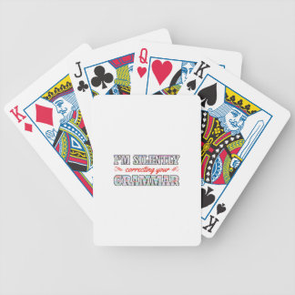 I'm silently correcting your Grammar Bicycle Playing Cards