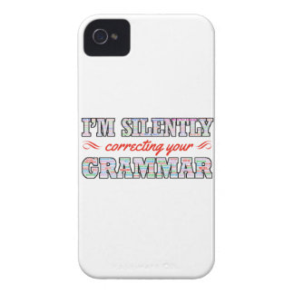 I'm silently correcting your Grammar iPhone 4 Covers