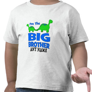 I m the BIG Brother Custom Dinosaur Design T Shirt