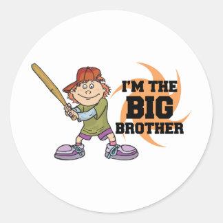 I m The Big Brother Round Sticker