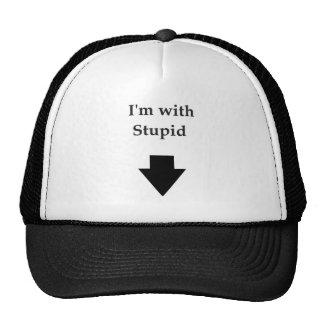 I m with stupid trucker hat