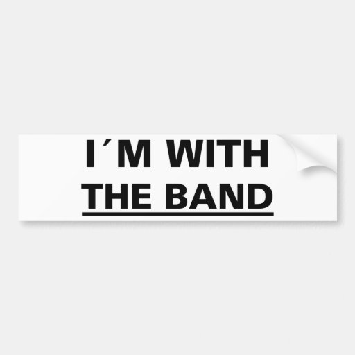 I´m with the band cool rocker t-shirts! and stuff! bumper stickers