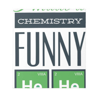 I made a chemistry funny here notepad