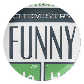 I made a chemistry funny here plate