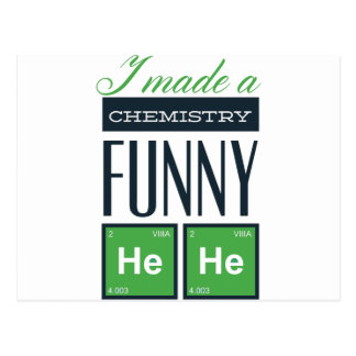 I made a chemistry funny here postcard