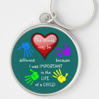 I Made A Difference ~ Keychain.2 Silver-Colored Round Keychain