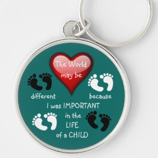 I Made A Difference ~ Keychain.3 Silver-Colored Round Keychain